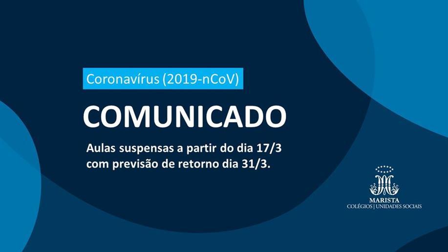 Diante da necessidade de intensificar ações preventivas ao novo coronavírus (2019-nCoV), o Centro Social Marista Boa Esperança suspenderá suas atividades a partir de 17/3 (terça-feira). O retorno está previsto para 31/3.