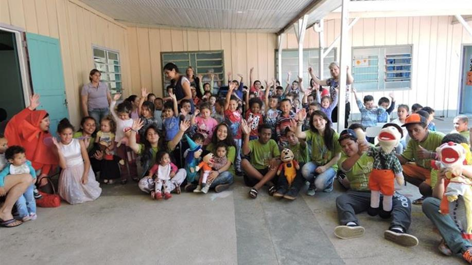 Ação foi realizada na Escola Municipal de Educação Infantil Vovô Albino