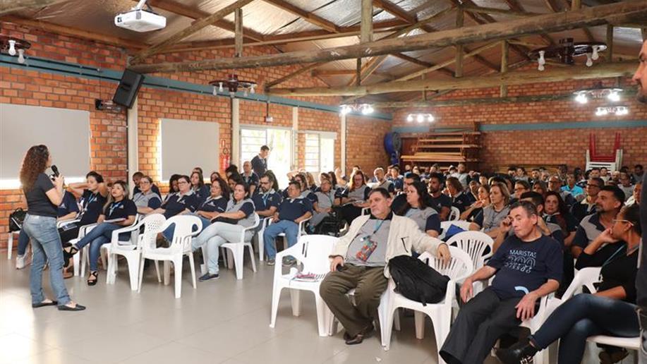 Os colaboradores do Cesmar receberam formação inicial marista