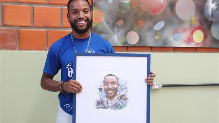 Gleen Eduards é um dos personagens que integram a campanha institucional da Rede Marista 2018