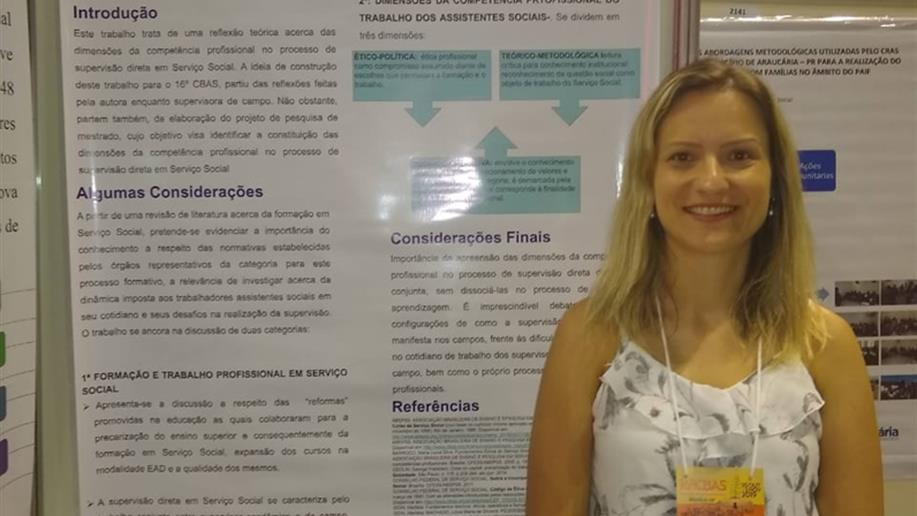 Educadora participa de Congresso Nacional voltado para Assistentes Sociais
