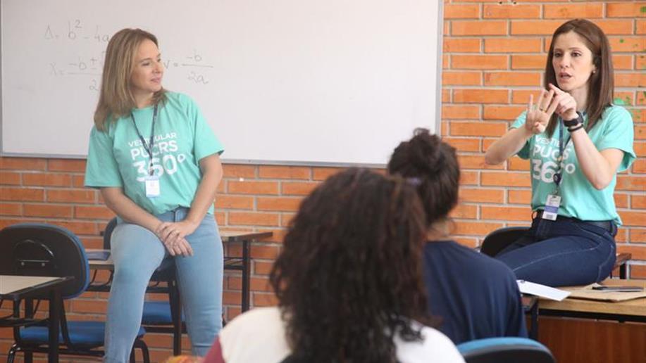 Encontro com os estudantes teve o objetivo de esclarecer dúvidas e conhecer melhor o sistema de ingresso no Ensino Superior