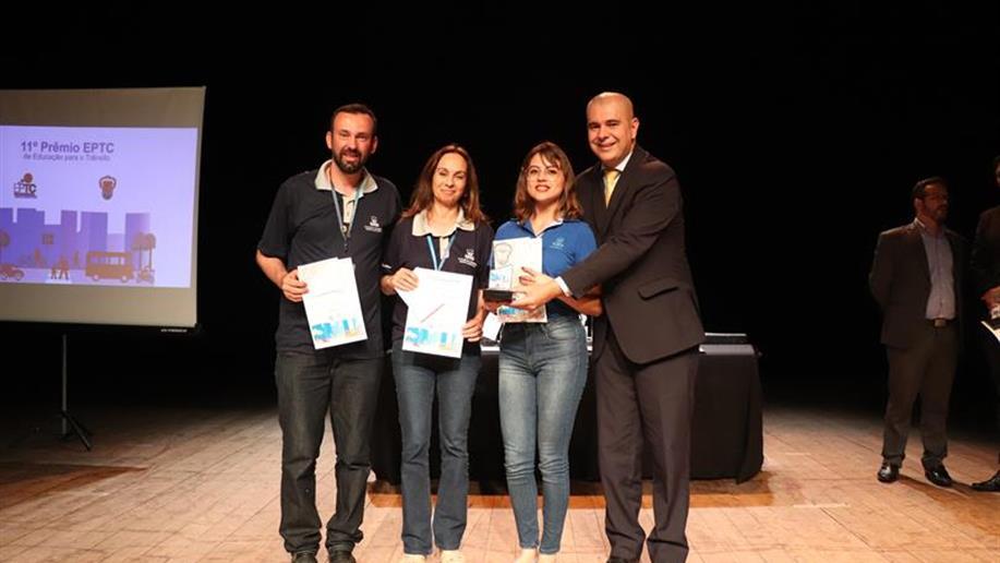Projeto desenvolvido pelos professores foi premiado no 11º Prêmio EPTC de Educação para o Trânsito